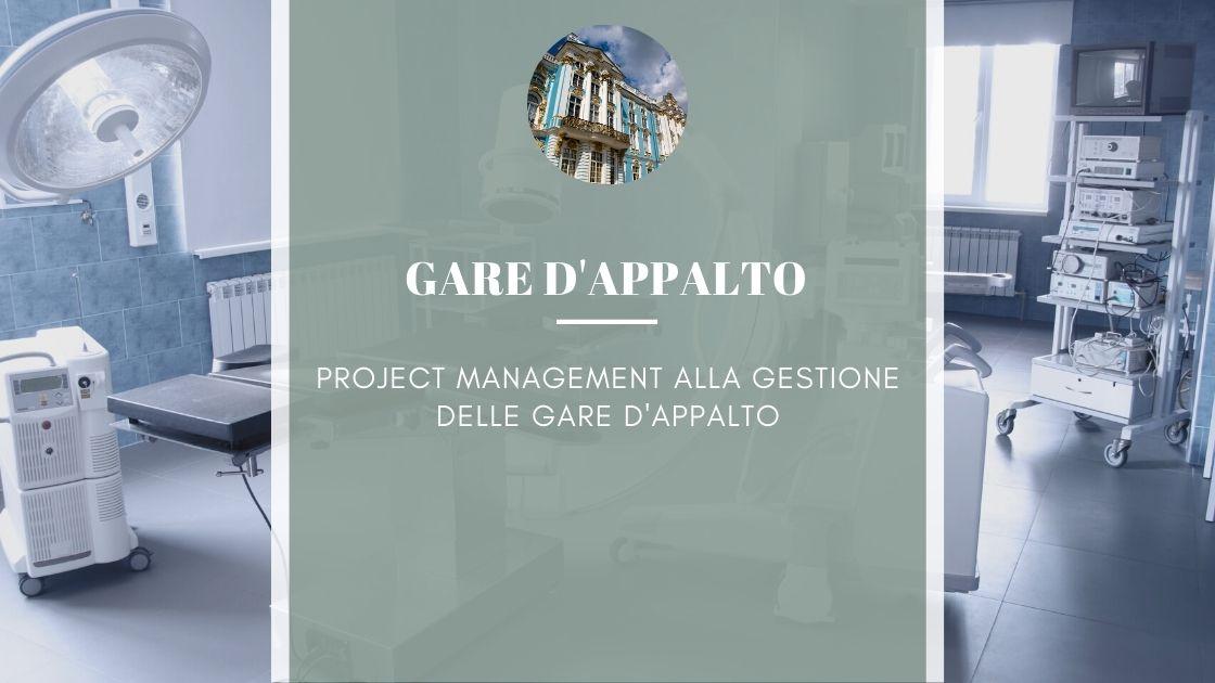 Project Management per la gestione delle gare d'appalto