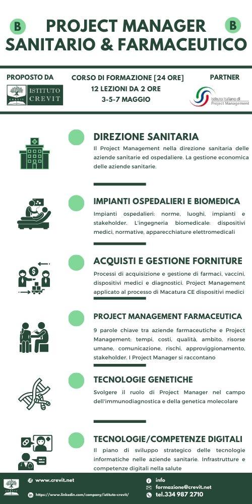 Corso Project Manager Sanitario Farmaceutico