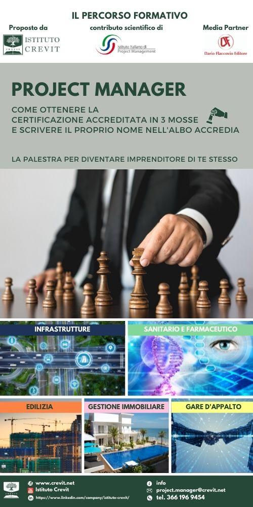 Diventa Project Manager iscritto in banca dati Accredia